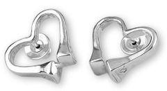 Petite Equestrian Heart Race Nail Earrings