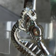 Seahorse Bangle on Hammered latching wrist band