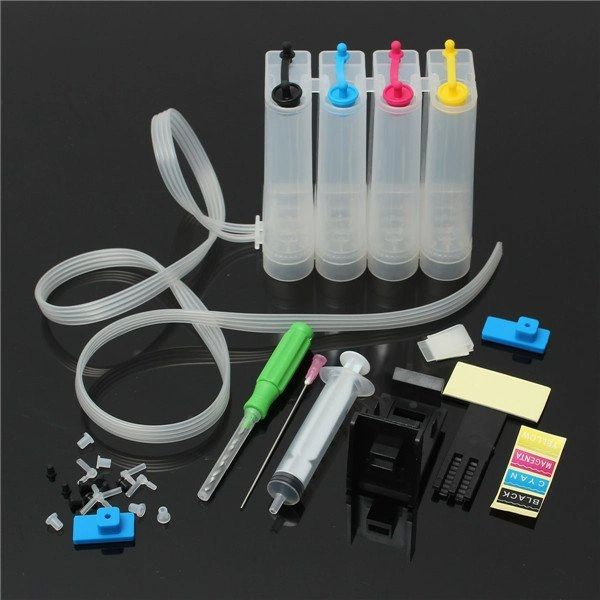 Dubaria® CISS Ink Tank Kit Universal For Canon 810, 811, 740, 741, 745, 746, 40, 41, 89, 99 & HP 680, 678, 803, 901, 818, 860, 861 Ink Cartridges