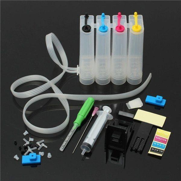 Dubaria® CISS Ink Tank Kit Universal For HP DeskJet 1402. 1410, 3920, 3940, D1360, D1460, D1550, D1560, D2360, D2460 Printers