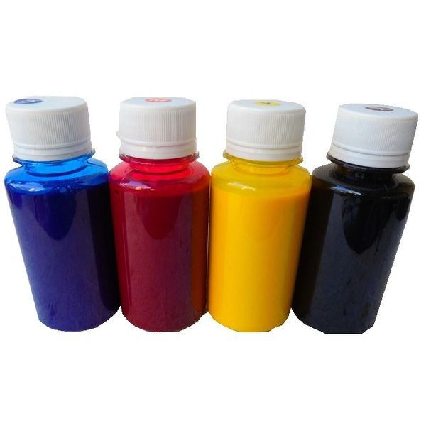 Dubaria Refill Ink For Use In HP CISS, Printers & InkJet Cartridges - Cyan, Magenta, Yellow & Black - 100 ML Each Bottle