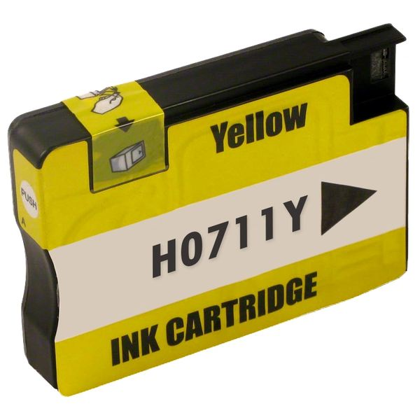 """Dubaria 711 Yellow Ink Cartridge Repalcement For HP 711 Yellow Ink Cartridge For Use In DesignJet T120 24"""" ePrinter, DesignJet T520 24"""", ePrinter DesignJet T520 36"""" ePrinter"""