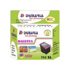 Dubaria 751 XL Magenta Ink Cartridge For Canon 751XL Magenta Ink Cartridge
