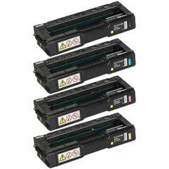 Dubaria Color Toner Cartridges Compatible For Ricoh C220, C221, C222, C240 (406046 Black, 406047 Cyan, 406044 Yellow, 406048 Magenta) Toner Cartridge Combo