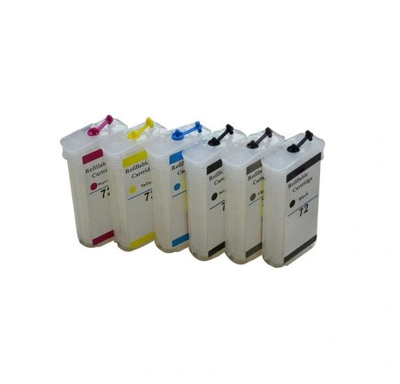 Dubaria Empty Refillable Cartridge For HP Z 5400 Printers Compatible With HP 70 All 6 Colors