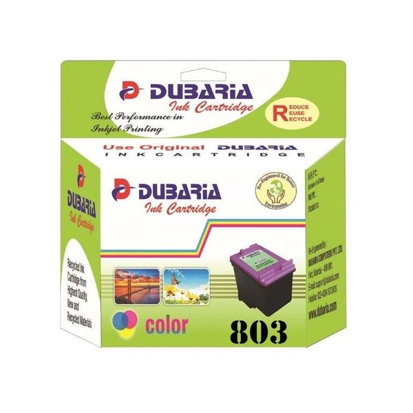 Dubaria 803 TriColor Ink Cartridge For HP 803 TriColor Ink Cartridge For Use In HP DeskJet 1112, 1111, 2131, 2132 Printer