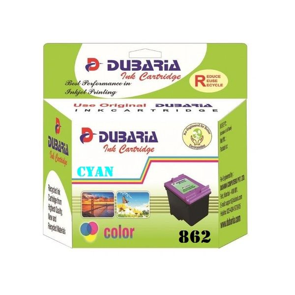 Dubaria 862 Cyan Ink Cartridge For HP 862 Cyan Ink Cartridge