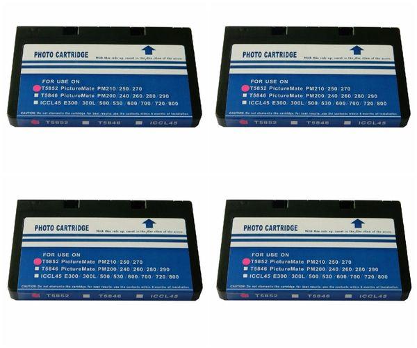 Dubaria T5852 Photo Cartridge Compatible For Use In Epson PICTUREMATE PM 210 / 235 / 250 / 270 / 310 / 215 / 245 Portable Photo Printers Replacement For Epson T5852 Photo Cartridge - Pack of 4
