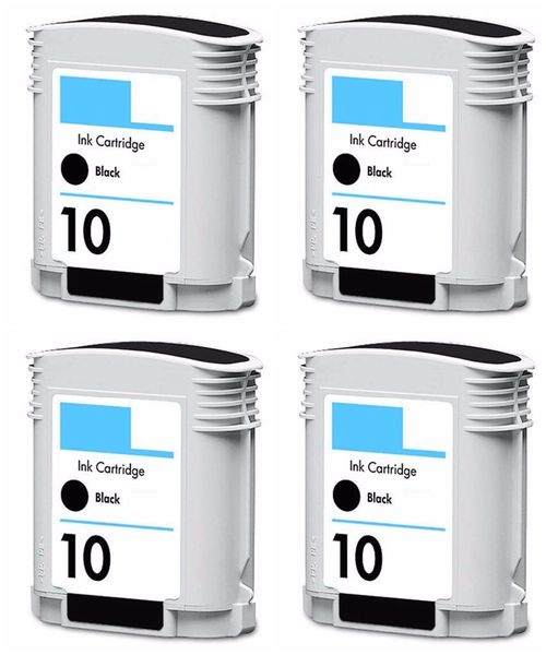 Dubaria 10 Ink Cartridge For Use In HP Business InkJet 1000, 1100 Series, 1200 Series, 2200, 2230, 2250, 2280, 2300, 2600, 2800, cp1700 Series, OfficeJet 9110, 9120, 9130, OfficeJet Pro K850 Series - Pack of 4