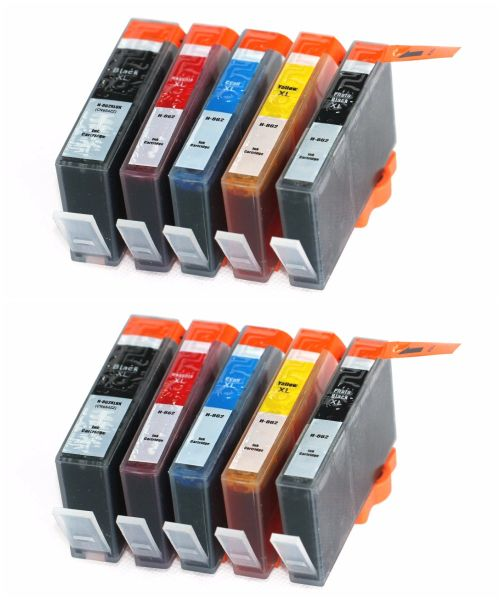 Dubaria 862 XL Ink Cartridges Compatible For HP 862 XL Ink Cartridges Photo Black, Black, Cyan, Magenta & Yellow - 2 Combo Packs