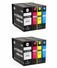 Dubaria 2700 XL Ink Cartridges Compatible For Canon PGI 2700 XL Ink Cartridge Combo For Use In Canon Maxify IB 4080, IB 4070, IB 4170, MB 5070, MB 5080, MB 5370, MB 5470, MB 4075, MB 5170 Printer All Four Cartridge - 2 Combo Packs