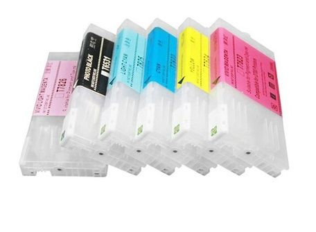 Dubaria Refillable Empty Ink Cartridge Compatible For Use In Epson SL-D700 Printers - All 6 Colors - 280 ML