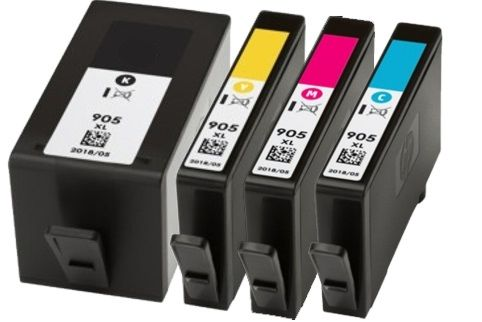 Dubaria 905 XL Ink Cartridge Compatible For HP 905 XL (909) Ink Cartridge For Use In HP Pro 6950, 6956, 6960, 6970 Printers - Cyan, Magenta, Yellow & Black - Combo Value Pack