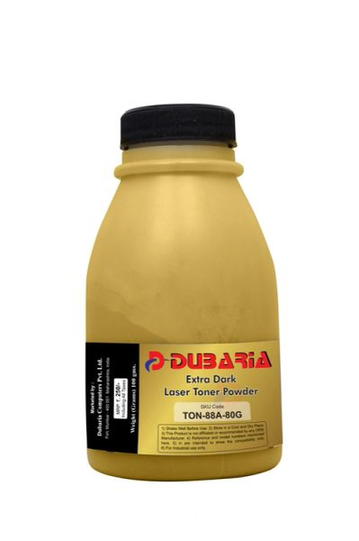 Dubaria Extra Dark Toner Powder For HP 88A Toner Cartridge - 80 Grams Bottle Pack