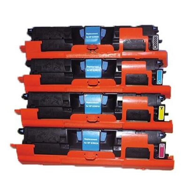 Dubaria 122A Color Toner Cartridges For Compatible For HP 122A / Q3960A Q3961A Q3962A Q3963A For Use In HP Color LaserJet 1500, 1550, 2500, 2550, 2800, 2820, 2840 Printers - Combo