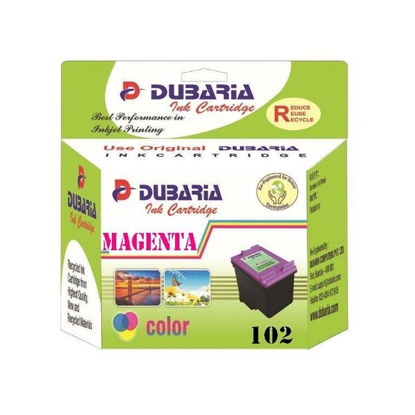 Dubaria 102 Magenta Ink Cartridge For Canon 102 Magenta Ink Cartridge