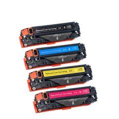 Dubaria 128A Toner Cartridge Bundle Combo Compatible For HP 128A - CE320A / CE321A / CE322A / CE323A Color LaserJet CM1415FNW / CM1415FN / CP1520 / CP1525 / CP1525N / CP1525NW / CP1521N Printers