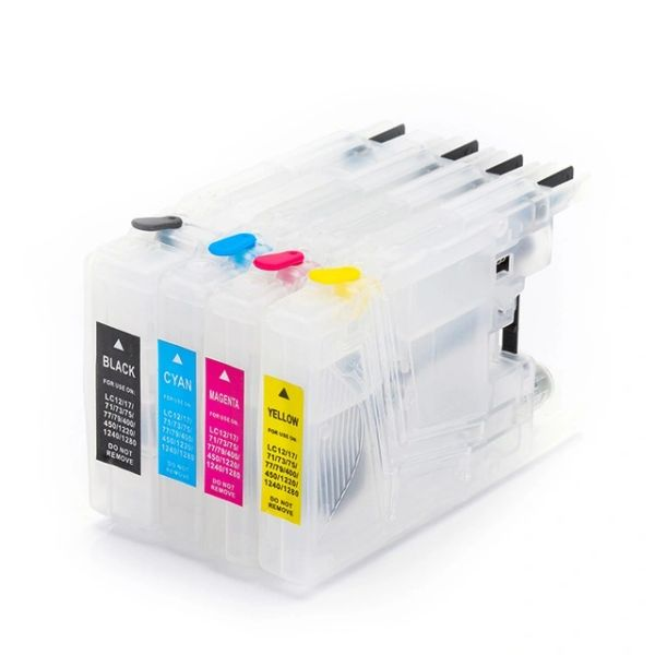 Dubaria Empty Refillable Cartridge For Brother J 430 / 625 / 6510 Printers Compatible With Brother LC400 - OEM Size