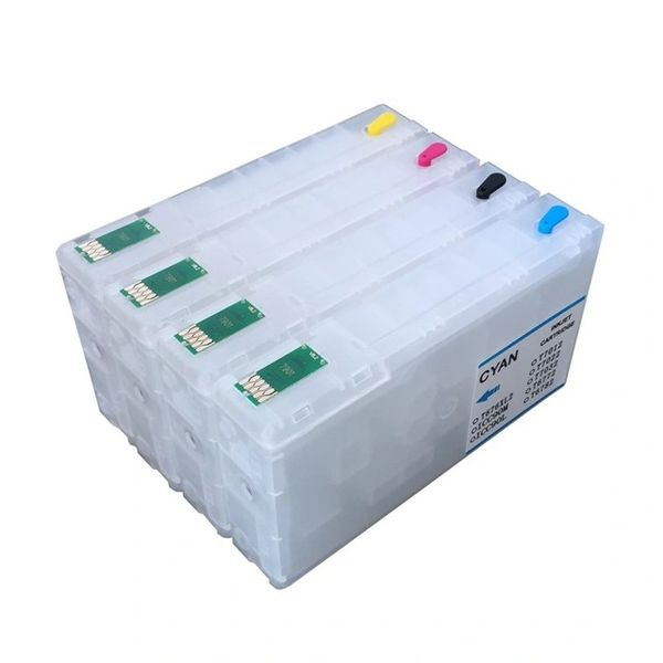 Dubaria Empty Refillable Cartridge For Epson WF 4011 / 4511 / 4521 Printers Compatible With Epson T6771 / T6772 / T6773 / T6774