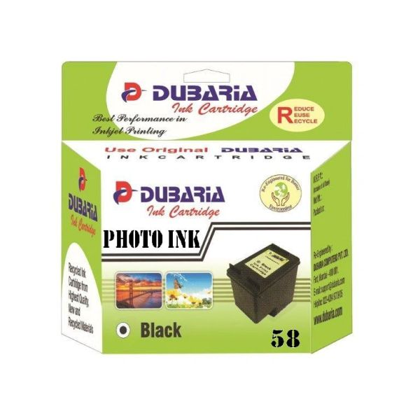 Dubaria 58 Photo Ink Cartridge For HP 58 Photo Ink Cartridge