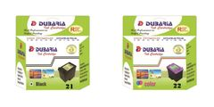 Dubaria 21 Black and 22 Tricolor Combo Ink Cartridge Compatible for HP 21 & 22 Ink Cartridge