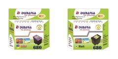 Dubaria 680 Ink Cartridge Combo For HP 680 Black & Tri Color