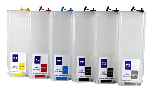 Dubaria Empty Refillable Ink Cartridges Compatible For HP 72 Ink Cartridges For Use In HP DesignJet T610 series, T620, T770, T770 HD, T790, T1100, T1300, T2300 eMFP & ePrint & Share Printers