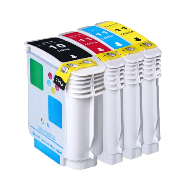 Dubaria 10 & 11 Ink Cartridges Compatible For HP 10 & 11 Ink Cartridges For Use In HP 70 / 100 / 110 / 500 / 800 / 815 / K850 / 1000 / 1100 / 1200 / 1300 / 1700 / 2000 / 2230 / 2250 / 2280 / 2300 / 2600 / 2800 / 3000 / 9110 / 9120 / 9130 Printers