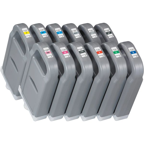 Dubaria 704 Ink Cartridges Compatible For Canon PFI-704 Ink Cartridges For Use In imagePROGRAF iPF8300, iPF8300S, iPF8400, iPF8400S, iPF9400 & iPF9400S Printers - 700 ML - 12 Colors