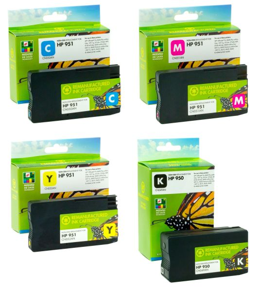 Static Control Compatible Ink Cartridges For HP 950, 951 Ink Cartridges For Use In HP OfficeJet Pro 276dw, 8600 E, 8600 Plus, 8610, 8620, 251dw, 8100, 8630 Printers