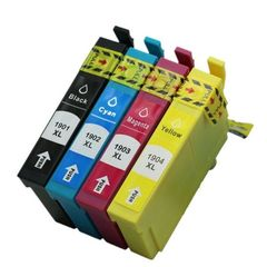 Dubaria T190 Ink Cartridge Compatible For Epson T1901 / T1902 / T1903 / T1904 Ink Cartridges For Use In Epson ME401 / ME303 / ME301 Printers - Cyan, Magenta, Yellow, Black