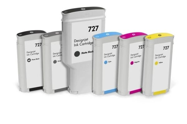 Dubaria 727 Ink Cartridge Compatible For HP 727 Ink Cartridges For Use In HP DesignJet T1500 ePrinter, T1500 PostScript ePrinter, T2500 eMultifunction Printer, T2500 PostScript eMultifunction Printer, T920 ePrinter, T920 PostScript ePrinter Printers