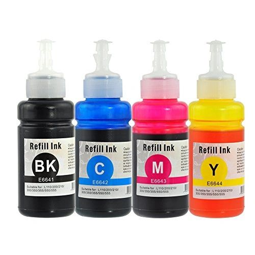 Dubaria Refill Ink For Use In Canon IPF 605 / 510 / 610 / 750 / 710 / 850 / 671 Printer Compatible With Canon PFI 101 / 102 / 103 / 104 / 105 - Cyan, Magenta, Yellow, Black, Black, Matt Black - 200 ML Each Bottle
