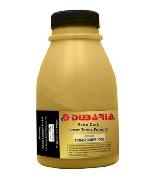 Dubaria Extra Dark Toner Powder For Brother TN 2125 Toner Cartridge - 100 Grams Bottle Pack