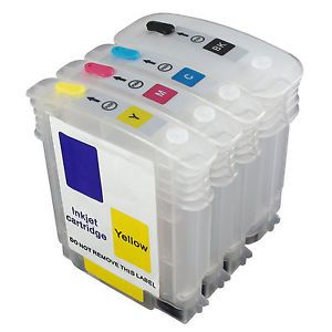 Dubaria Empty Refillable Cartridge For HP DJ 111 Printer Compatible With HP 82 Black & 11 Cyan, Yellow & Magenta - 69 ML
