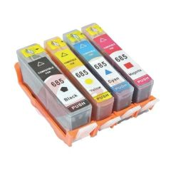 StarInk 685 Black, Cyan, Magenta & Yellow - All four Color Ink Cartridges Combo For HP Deskjet Ink Advantage 3525, 4615, 4625, 5525, 6525 e-All-in-One Printers