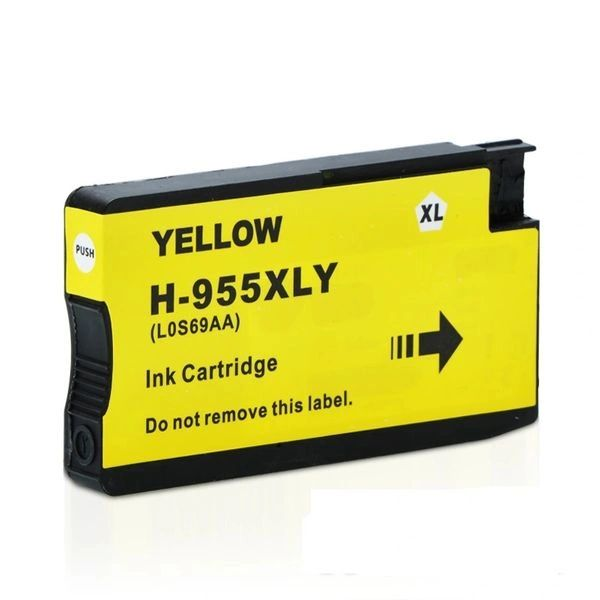 StarInk 955 XL Yellow Ink Cartridge Compatible For HP 955 XL Yellow Ink Cartridge For Use In HP OfficeJet Pro 7740, 8210, 8216, 8700, 8710, 8715, 8716, 8717, 8720, 8725, 8727, 8730, 8740, 8745 All-in-One Printer, HP OfficeJet Managed MFP P27724dw Printer