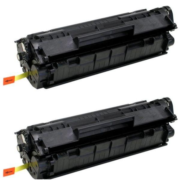 Dubaria 12A Compatible For HP 12A / Q2612A Toner Cartridge For HP LaserJet 1010, 1010w, 1012, 1015, 1018, 1020, 1022, 1022n, 1022nw, M1005 MFP, M1319f MFP, 3015, 3020, 3030, 3050, 3050z, 3052, 3055-pack of 2