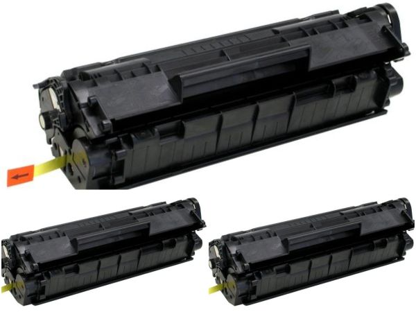 Dubaria 12A Compatible For HP 12A / Q2612A Toner Cartridge For HP LaserJet 1010, 1010w, 1012, 1015, 1018, 1020, 1022, 1022n, 1022nw, M1005 MFP, M1319f MFP, 3015, 3020, 3030, 3050, 3050z, 3052, 3055 -pack of 3