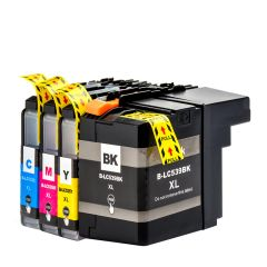 Dubaria LC539, LC539XL, LC535, LC535XL Black, Cyan, Yellow & Magenta Compatible Ink Cartridges For Brother DCP J100, DCP J105, MFC J200 Printers