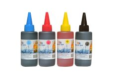 StarInk Universal Refill Ink For HP, Canon, Brother & Epson Desktop Printers - Black, Cyan, Magenta & Yellow - 100 ML Each Bottle Black + Tri Color Combo Pack Ink Bottle