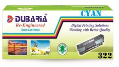 Dubaria 322 CyanToner Cartridge Compatible For Canon 322 Cyan Toner Cartridge