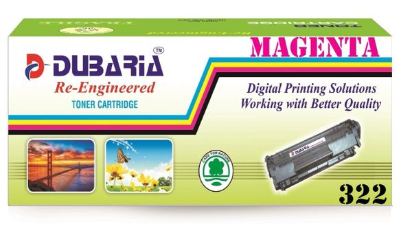 Dubaria 322 Magenta Toner Cartridge Compatible For Canon 322 Magenta Toner Cartridge
