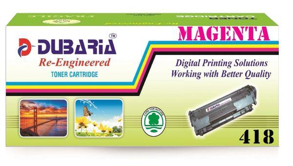 Dubaria 418 Magenta Toner Cartridge Compatible For Canon 418 Magenta Toner Cartridge