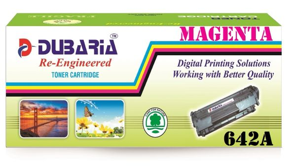 Dubaria 642A Compatible For HP 642A Magenta Toner Cartridge / HP CB403A Magenta Toner Cartridge HP Color LaserJet CP4005, CP4005dn,