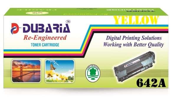 Dubaria 642A Compatible For HP 642A Yellow Toner Cartridge / HP CB402A Yellow Toner Cartridge HP Color LaserJet CP4005, CP4005dn,