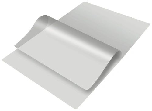 Lamination Pouch Film Sheet, Size - 87 x 114 mm, 125 Microns, 100 Sheets