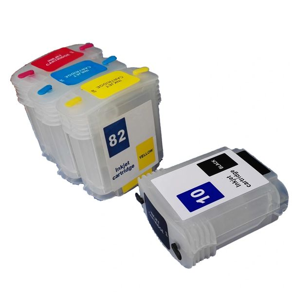 Dubaria Empty Refillable Cartridge For HP DesignJet 500 / 500PS 800 / 800PS / 815 MFP Printers Compatible With HP 10 (69 ML) C4844A 82 (69 ML) C4911A / 12A / 13A