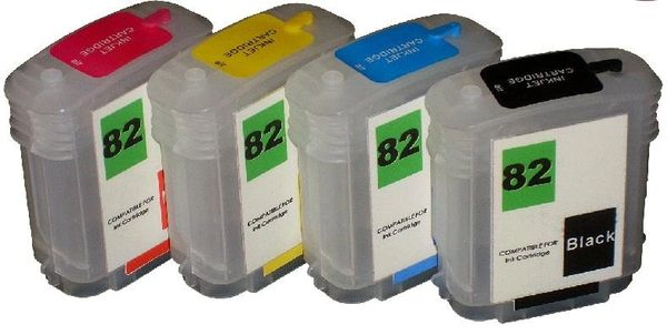 Dubaria Empty Refillable Cartridge For HP DesignJet 510 Printers Compatible With HP 82 All Four Colors