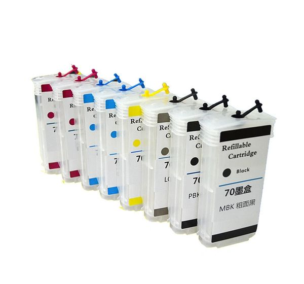 Dubaria Empty Refillable Cartridge For HP Z 2100 & Z 3200 Printers Compatible With HP 70 All 8 Colors